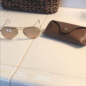 Authentic Ray Ban Gold Aviators